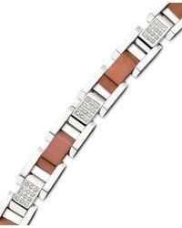 Macy's | Multicolor Men's Diamond Bracelet In Stainless Steel (1/2 Ct. T.w.) for Men | Lyst