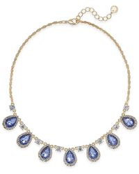 Charter Club - Metallic Clear & Colored Crystal Collar Necklace - Lyst