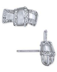 Kate Spade | Metallic Pavé Knot Stud Earrings | Lyst