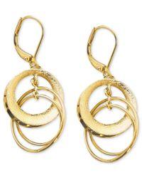 Anne Klein | Metallic Circle Drop Earrings | Lyst