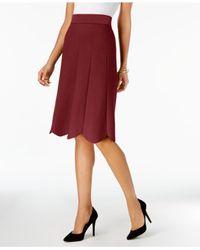 Olivia & Grace - Red Scalloped Pull-on Skirt - Lyst