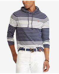 a9973829d8 Polo Ralph Lauren. Men's Blue Big & Tall Striped Hooded Long-sleeve T-shirt