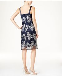 R & M Richards - Blue Floral-print Jacket Dress - Lyst
