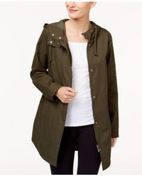 Style & Co. - Green Hooded Anorak Jacket - Lyst