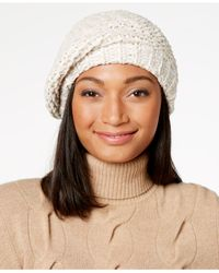 Charter Club - Brown Velvety Marled Chenille Beret - Lyst