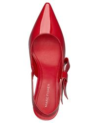 Marc Fisher - Red Judge Slingback Bow Pumps - Lyst