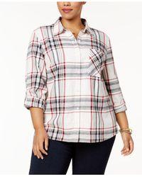 Style & Co. - Multicolor Plus Size Cabin Plaid Shirt - Lyst
