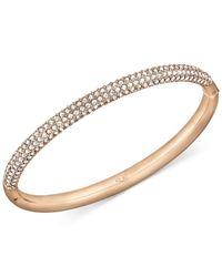 Swarovski   Metallic Rose Gold-tone Crystal Bangle Bracelet   Lyst