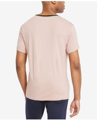 Kenneth Cole Reaction - Pink Men's Graphic-print T-shirt for Men - Lyst