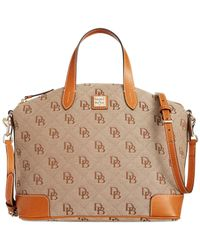 Dooney & Bourke | Brown Gabriella Canvas & Leather Satchel | Lyst