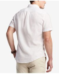 Tommy Hilfiger White Porter Linen Shirt, Created For Macy's for men