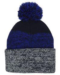 47 Brand - Blue Static Pom Knit Hat - Lyst