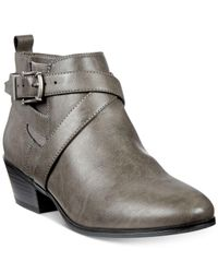 Style & Co. - Gray Harperr Strappy Booties - Lyst