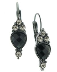 2028 | Black Earrings, Reverse Teardrop | Lyst