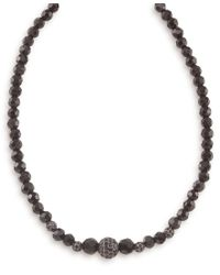 Carolee | Multicolor Necklace, Graduated Jet And Crystal Fireball | Lyst