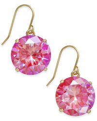 Kate Spade | Red Shine On Gold-tone Crystal Drop Earrings | Lyst
