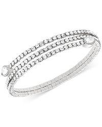 Swarovski - Metallic Twisty Crystal Cuff - Lyst