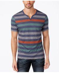 INC International Concepts - Blue Men's Heathered Striped T-shirt for Men - Lyst