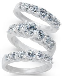 Macy's - Diamond 3-pc. Bridal Set (2 Ct. T.w.) In 14k White Gold - Lyst
