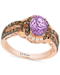 Le Vian - Metallic Amethyst (9/10 Ct. T.w.) And Diamond (1/2 Ct. T.w.) Ring Set In 14k Rose Gold - Lyst