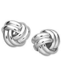 Giani Bernini - Metallic Sterling Silver Earrings, Double Knot Stud - Lyst
