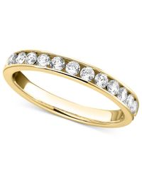 Macy's | Metallic Diamond Band Ring In 14k White Gold (3/4 Ct. T.w.) | Lyst