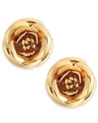 Kate Spade - Metallic Gold-tone Flower Stud Earrings - Lyst