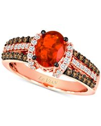 Le Vian | Pink Fire Opal (5/8 Ct. T.w.) And Diamond (1/2 Ct. T.w.) Ring In 14k Rose Gold | Lyst
