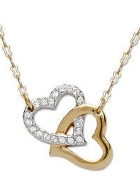 Swarovski | Metallic Pendant, Interlocking Crystal Hearts | Lyst