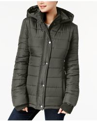 Rampage Multicolor Juniors' Hooded Puffer Coat
