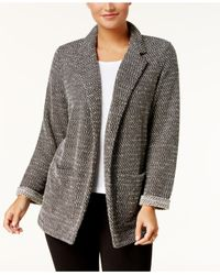 Style & Co. - Black French Terry Blazer - Lyst