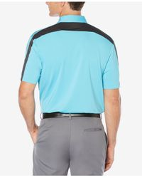 PGA TOUR - Blue Men's Contrast Trim Golf Polo for Men - Lyst