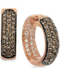 Le Vian - Metallic Diamond In & Out Hoop Earrings (9/10 Ct. T.w.) In 14k Rose Gold - Lyst