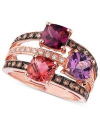 Le Vian   Multicolor Multistone And Diamond Ring In 14k Rose Gold (3/8 Ct. T.w.)   Lyst