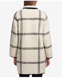 Calvin Klein - White Windowpane Open Coat - Lyst