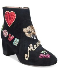 Kate Spade - Black Liverpool Embroidered Booties - Lyst