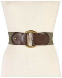 INC International Concepts - Green Hook Front Stretch Belt - Lyst