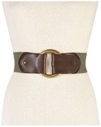 INC International Concepts | Green Hook Front Stretch Belt | Lyst
