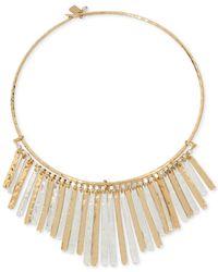 Robert Lee Morris - Metallic Two-tone Frontal Necklace - Lyst