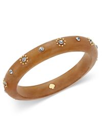 Kate Spade | Multicolor Out Of Her Shell Gold-tone Tortoiseshell-look Bangle Bracelet | Lyst