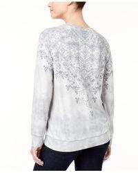 Style & Co. - Gray Tie-dyed Sweatshirt - Lyst