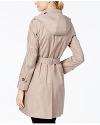 London Fog - Natural Double Breasted Trench Coat - Lyst