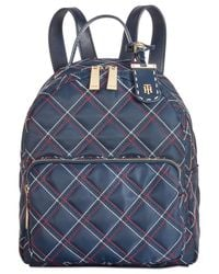 Tommy Hilfiger - Blue Julia Quilted Nylon Dome Backpack, Created For Macy's - Lyst