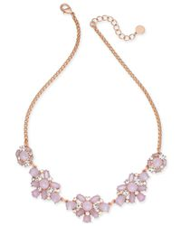 Charter Club - Pink Gold-tone Crystal & Blue Stone Collar Necklace - Lyst