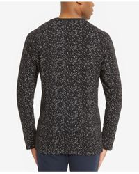Kenneth Cole Reaction - Black Men's Splatter-print Henley for Men - Lyst