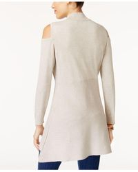 Style & Co. | Black Cold-shoulder Mock-neck Tunic | Lyst