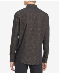 Calvin Klein - Black Men's Printed Shirt for Men - Lyst
