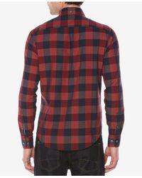 Original Penguin - Red Men's Heritage End-on-end Plaid Shirt for Men - Lyst