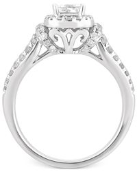 Macy's - Metallic Diamond Halo Engagement Ring (1 Ct. T.w.) In 14k White Gold - Lyst