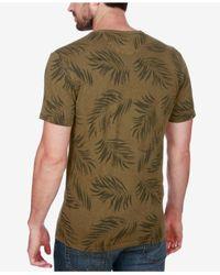 Lucky Brand - Green Men's Henley Cotton T-shirt for Men - Lyst